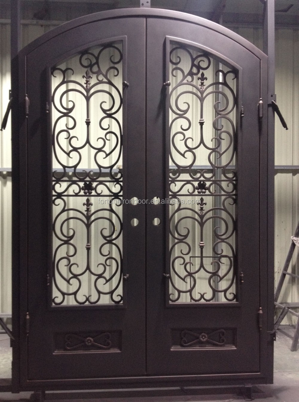 Arco Per Porta 2016 superiore ad arco porta in ferro battuto con mezza windows utilizzato  come porta esterna per la casa deco - buy porta esterna con vetro ad arco,a