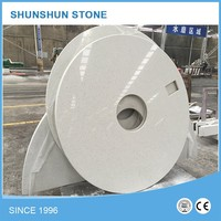 Artificial stone white quartz round table top for dining