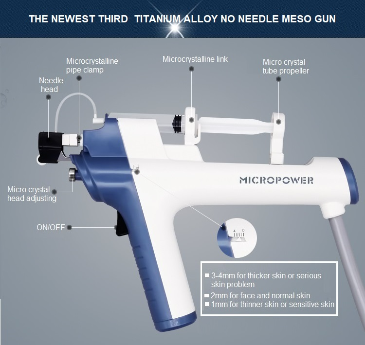 Professional meso injector mesotherapy gun with feedback