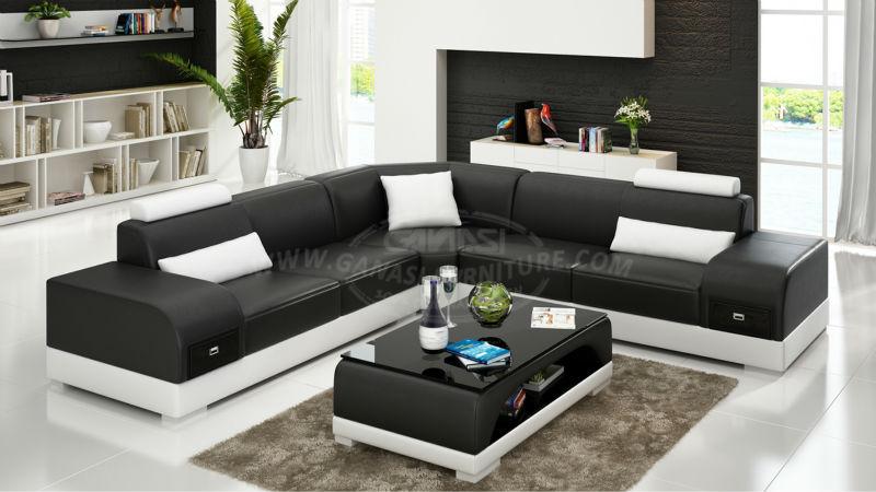 Divano Nero Moderno : Ganasi divano moderno divano in pelle incollata design moderno