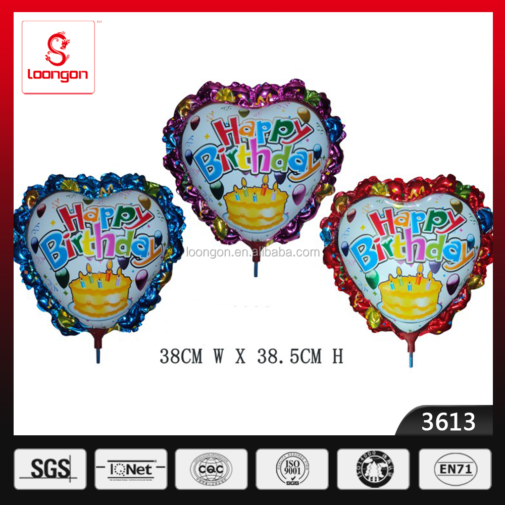 Happy birthday letter balloons with logo