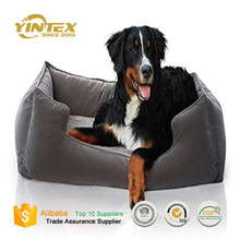 New products 2017 Durable leather egg pet bed with Detachable Cushion
