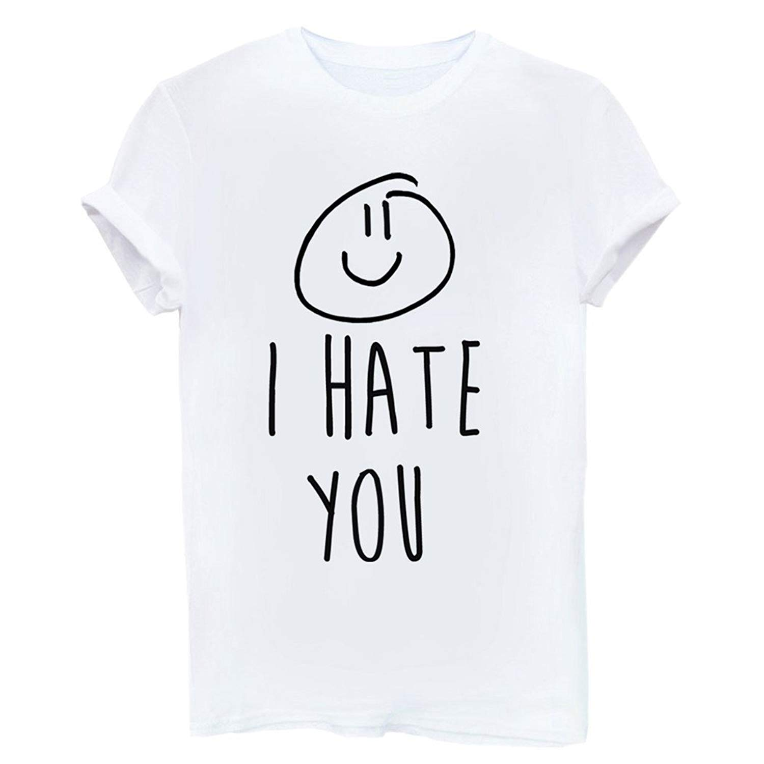8b5a9cc04f4be1 Get Quotations · LOOKFACE Women Funny Graphic T Shirt Cute Short Sleeve Tees  Tops
