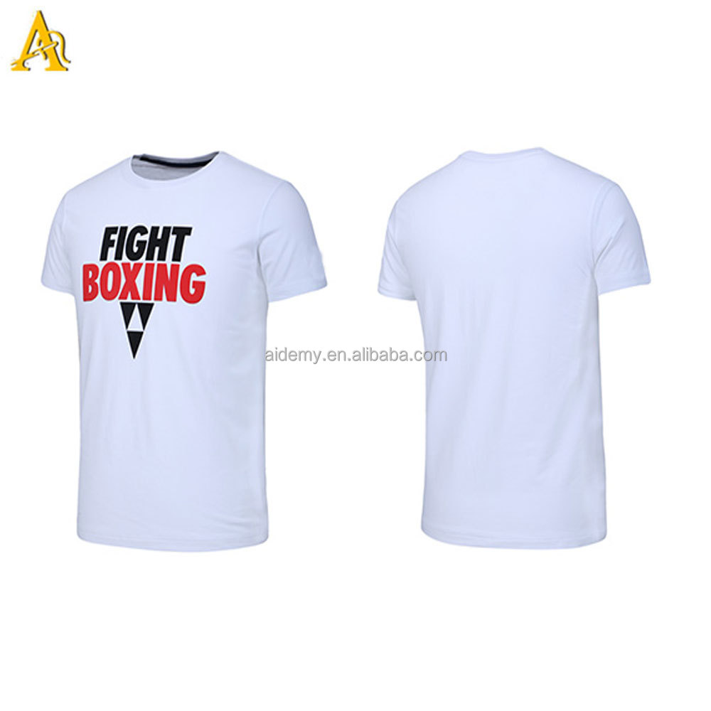 wholesale High quality graphic tees white cotton sports t shirts
