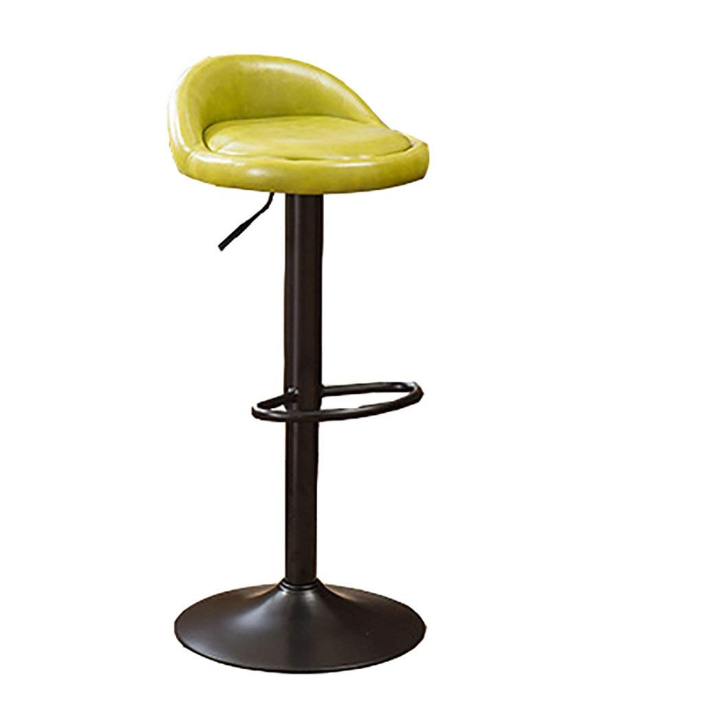 AIDELAI Stool Cashier Bar Chair Bar Stool Bar Stool European Reception Stool Backrest Simple Chair Bar Stool Circular Saddle Seat ( Color : E )