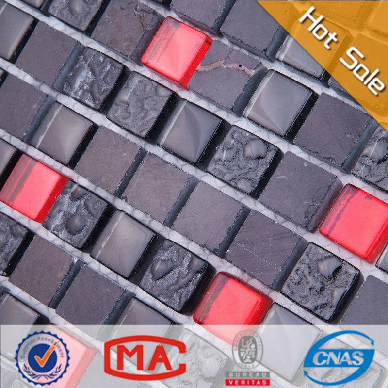 noir Glitter carreaux de sol mélanger rouge et noir carreaux de