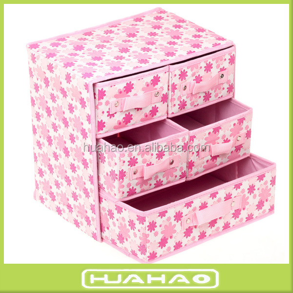 foldable non woven cardboard drawer storage box