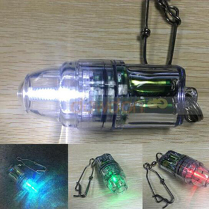 Hot Sales Underwater Deep Fishing AA Battery Bait Light For Boat Attract Fish Squid Lamp With Hook