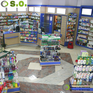 Medical Store Counter Showroom Design Pharmacy Furniture