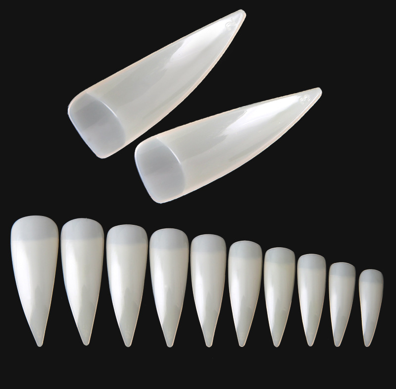 High Quality 600pcs Acrylic Cusp Artificial Fingernails For Nail Art Manicure