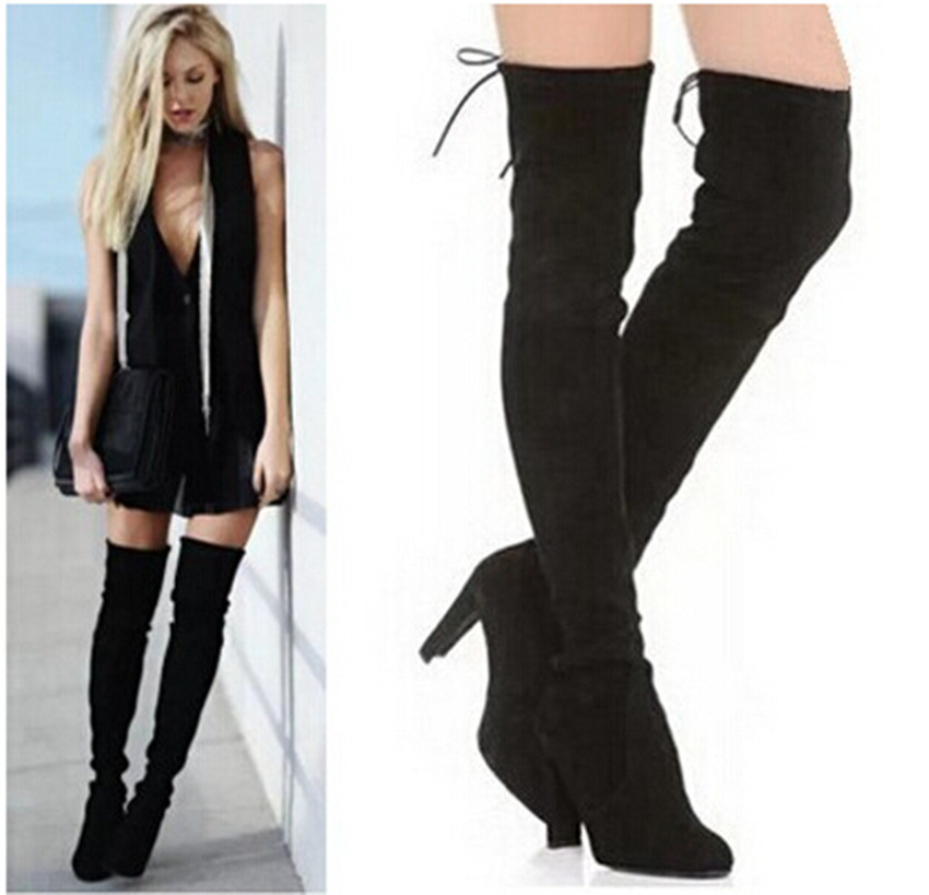 Cheap Thigh High Black Suede Boots, find Thigh High Black Suede ...
