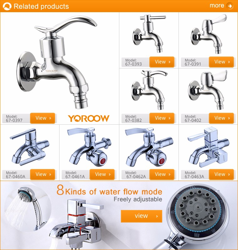 Good price stainless steel control in-wall double water tap