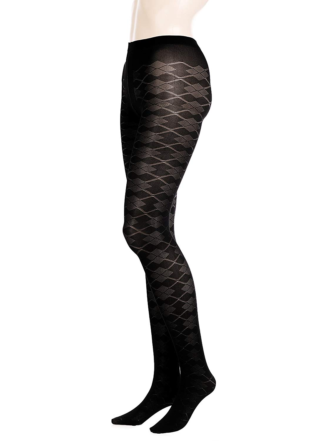 11455592bcdd7 Get Quotations · GLAMORY Dune 70 Denier Argyle Pantyhose Tights plus Size