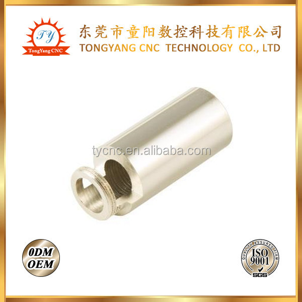 ODM/OEM precision aluminum cnc machining parts cnc metal small sleeve tube/ threaded brass tubes