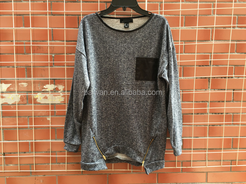 Yiwu stocks lots lady's latest design cheap price fashion pullover
