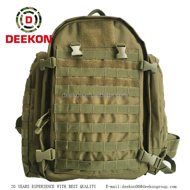 China supplier green military style backpacks, military issue bacpacks
