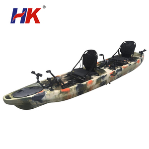 Cheap plastic canoe ocean kayak con with pedales sit on top foot pedal power fishing kayak for sale