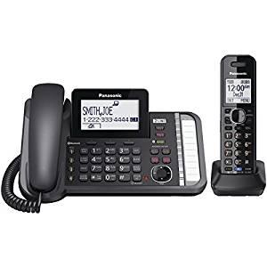 PANASONIC KX-TG9581B DECT 6.0 1.9 GHz Link2Cell(R) 2-Line Digital Corded/Cordless Phone (1 Handset)