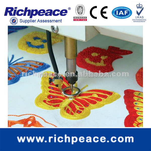 embroidery machine with laser cutting device