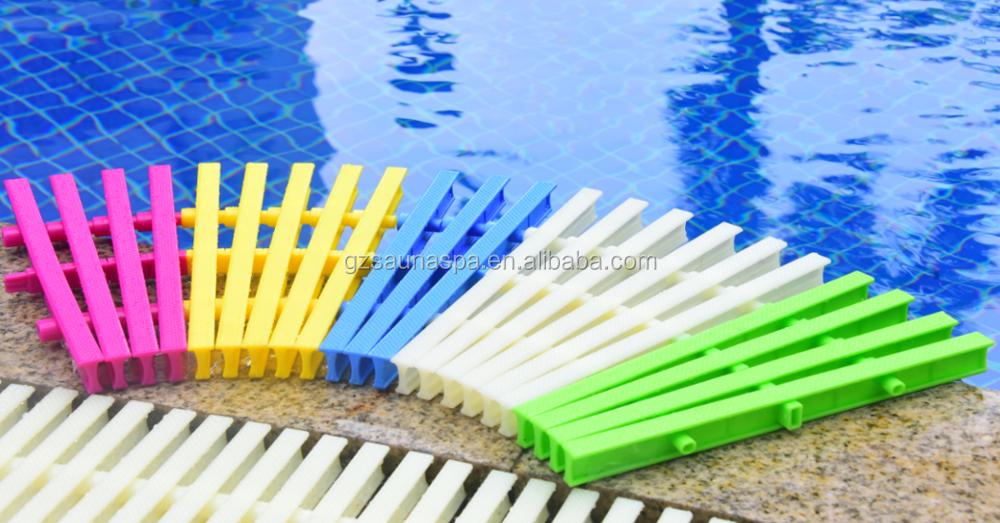Anti Skid Pvc Swimming Pool Gutter Overflow Grating 18cm