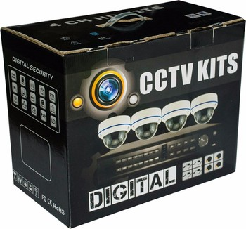 Cheap 4 camera CCTV kit, 720P AHD cameras and DVR ahd camera kit manufacturer