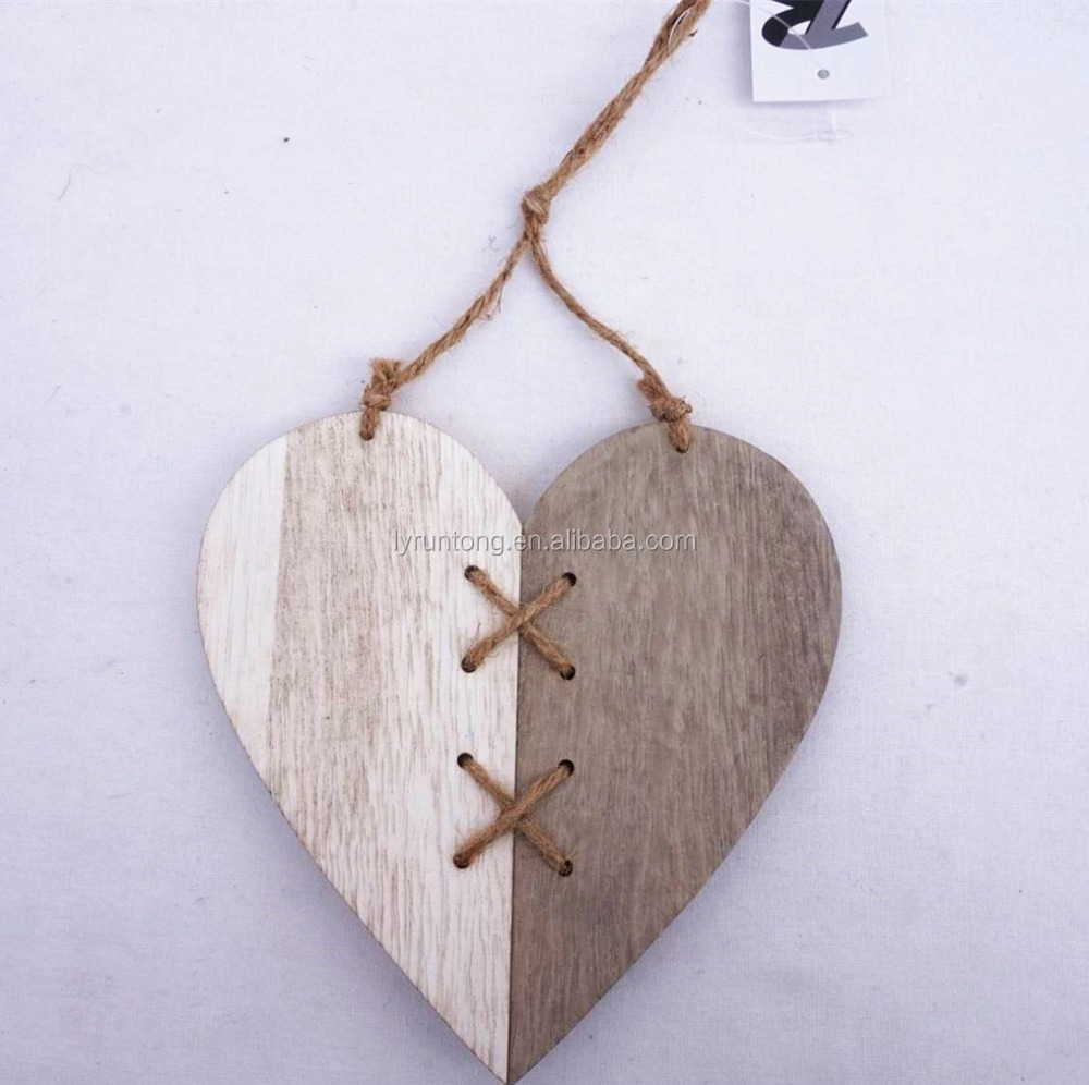 wooden made Easter decoration craft hanging on the wall