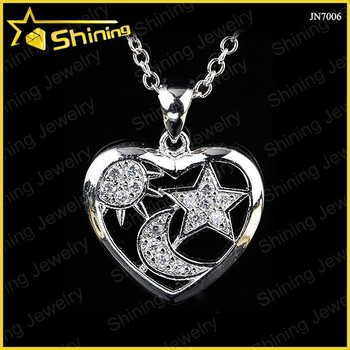 Beautiful heart shaped sun and moon and star gift pendant buy sun beautiful heart shaped sun and moon and star gift pendant aloadofball Image collections