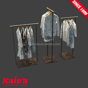 Brushed finish stainless steel clothes hanging rack