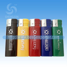 New Arrival Solid Color & Electronic Refillable Gas Lighter With Printing Five Colors