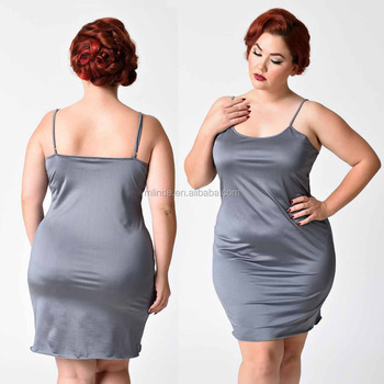 a27a5405 Custom Ladies Adjustable Straps Vintage Plus Size Woman and Girls Short  Charcoal Grey Stretch Long Sexy