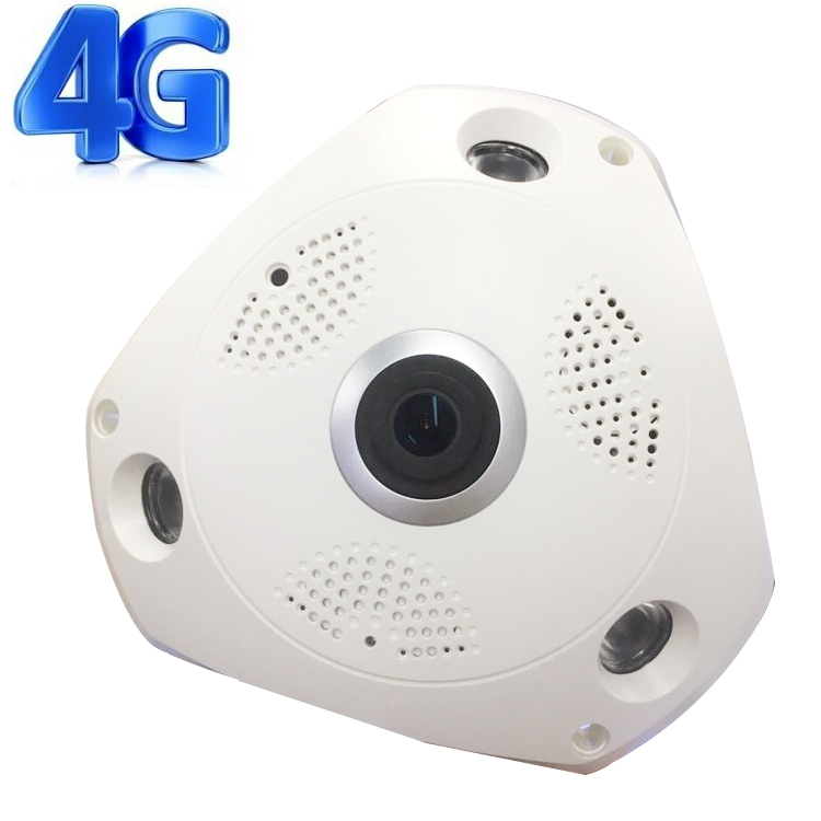 Newest 3g 4g 360 degree wireless vr ip security camera with two way audio