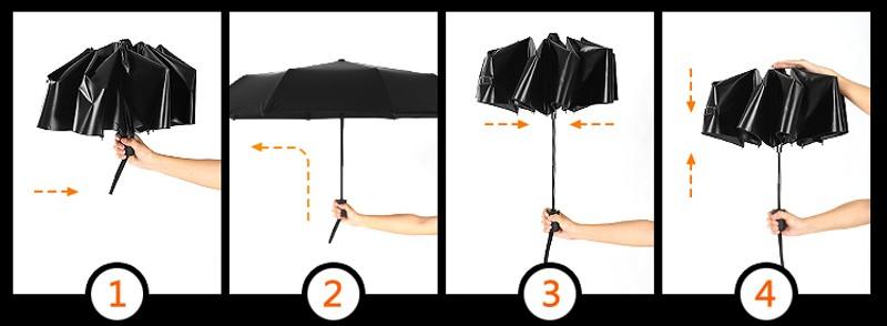Fashion 3 Fold Automatic Women Umbrella Sun Rain Anti-UV Windproof Male  Umbrella Black Ultra-light Mini Umbrella Parasol - us105 8f793e9d00d