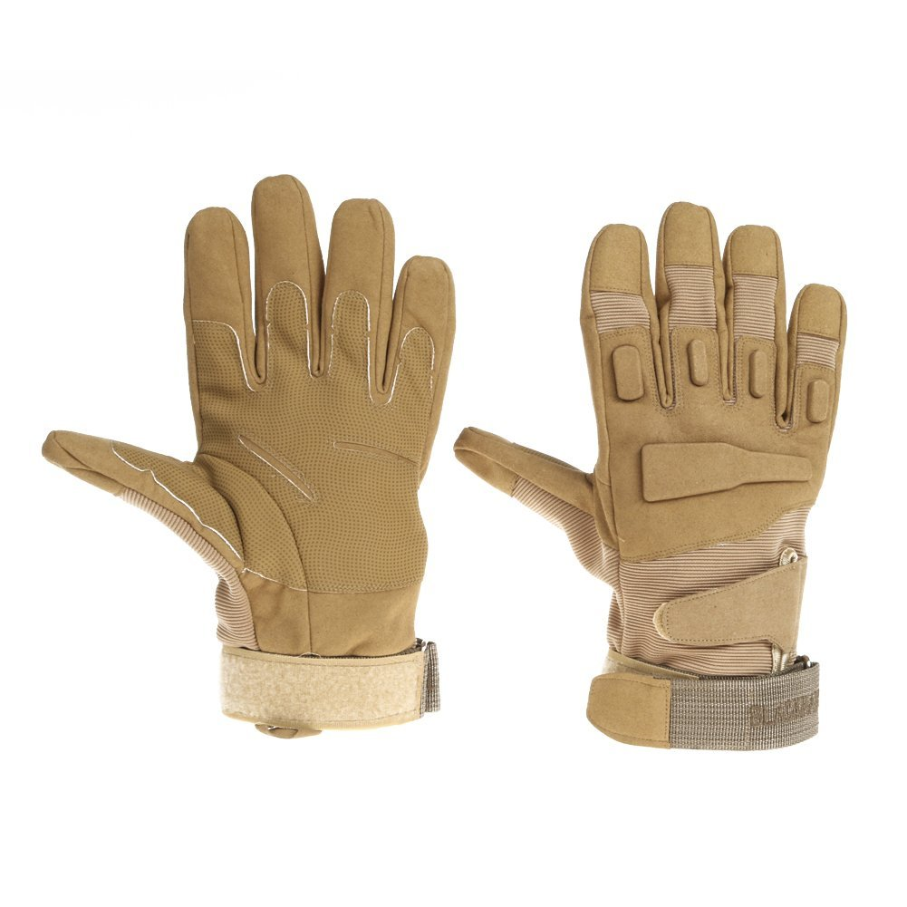 In Hand Protector | Full Finger Tactical Gloves M | Military Grade Microfiber and Nylon Material | Adjustable Padded Wrist Design | Ultimate Hand Protection for Combat Car Motorcycle | Brown | 215.8