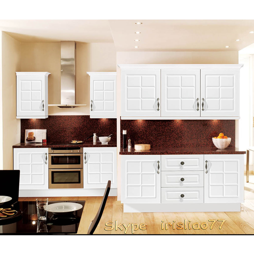 White Pvc Coated Kitchen Cabinets - Buy Pvc Coated Kitchen Cabinet ...