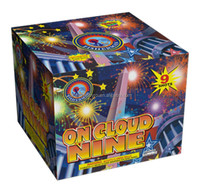 "High quality 2"" ON CLOUD NINE / 2"" 9 Shots Consumer Cake Fireworks / outdoor fireworks for Christmas / 4th of July / celebration"
