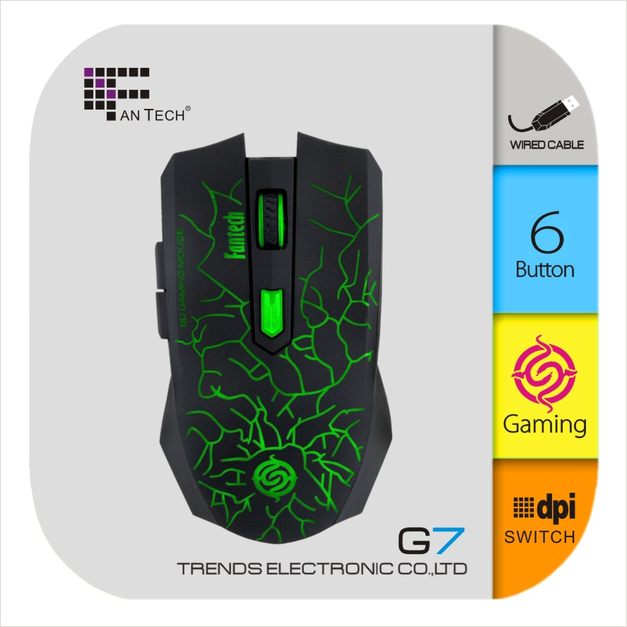 Fantech G7 Fastest Electronic Mouse Wireless Optical Gaming Mouse