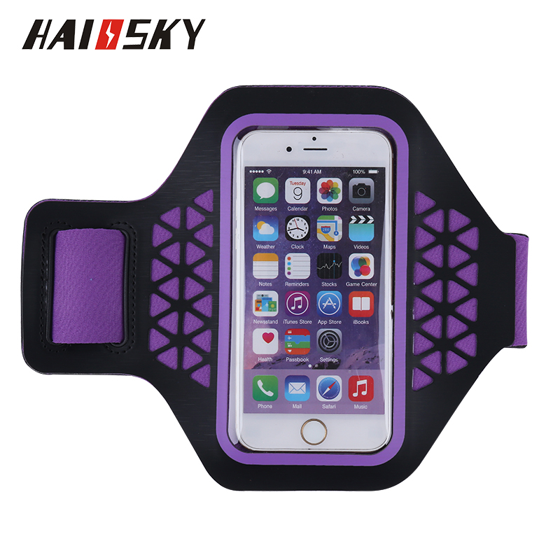 HAISKKY Running Sport Armband Gym Mobile Phone Arm Holder waterproof armband case armband for sale