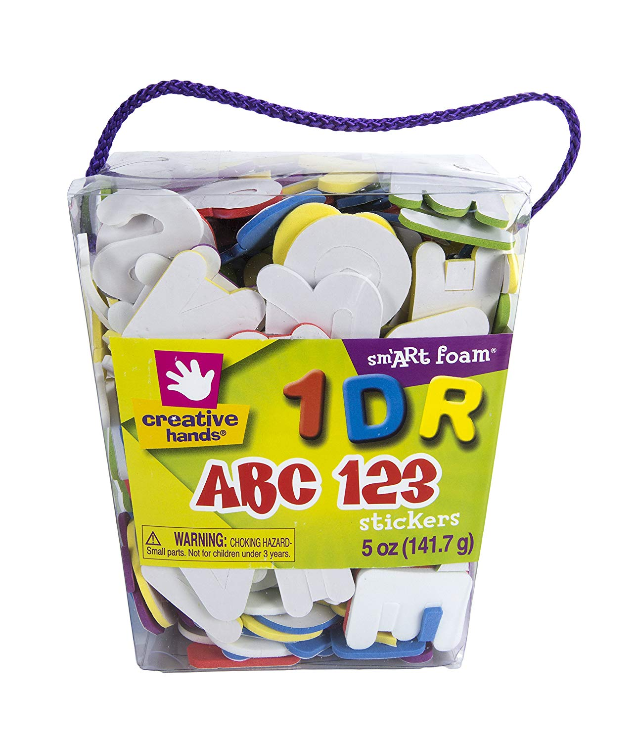 Fibre-Craft Foam Stickers, 6-Ounce, Self-Adhesive Letters and Numbers