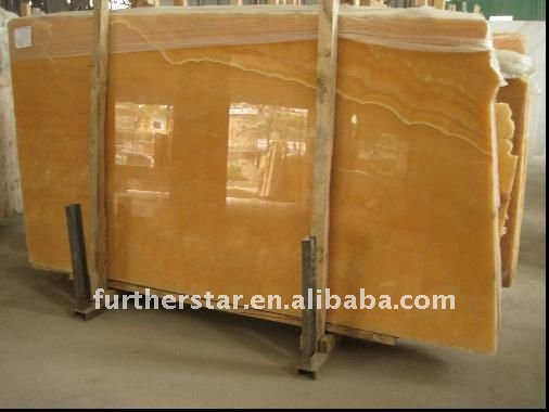 Golden Yellow Onyx Marble Tile