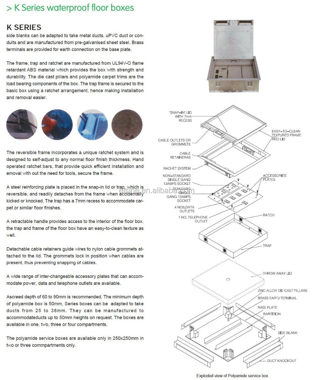 Wasserdicht Elektrischen Doppelboden-boxen Systeme Fußbodenheizung ...