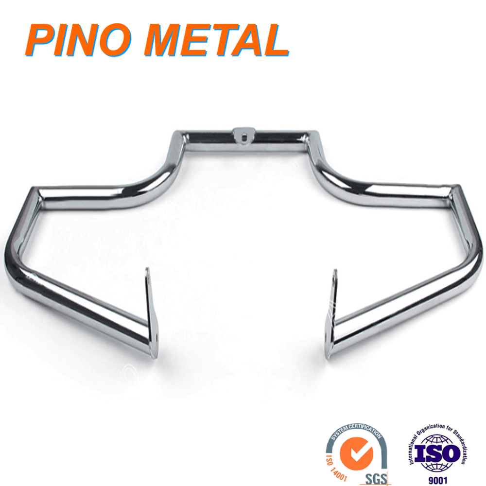 motor motorcycle engine guard steel polishing and chrome plating