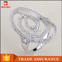 competitive price real silver 925 lady ring jewelry daily wear