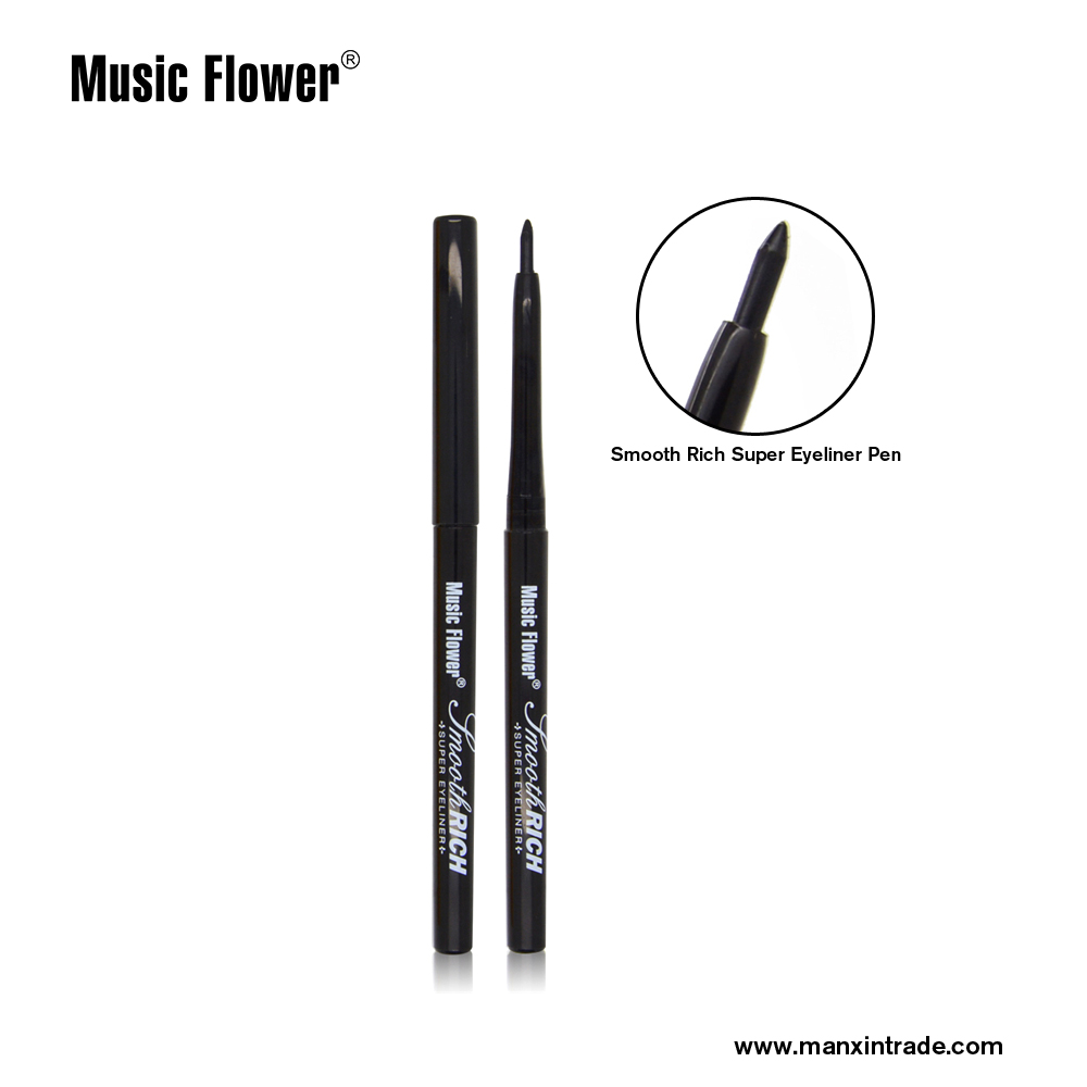 Music Flower Waterproof Rotary Eyeliner Pen Brand Makeup Retractable Cosmetic Beauty Makeup Tool Eye Liner Pencil