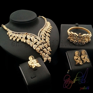 Heavy indian bridal jewelry sets kundan gold jewellery designs photos make in china