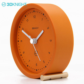 Modern Small Bedside Table Tabletop Cement Clocks