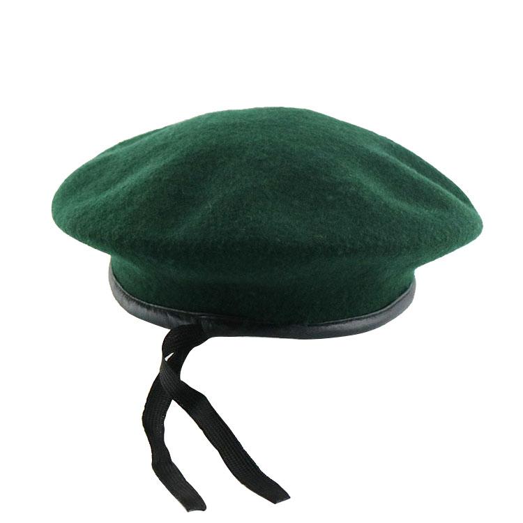 2e5652196caae 100% Wool Custom Logo military beret hats