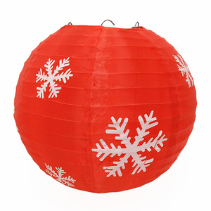 Meilun Art Crafts honeycomb Part Snowflake Printed Outdoor Hanging Nylon Christmas Lantern