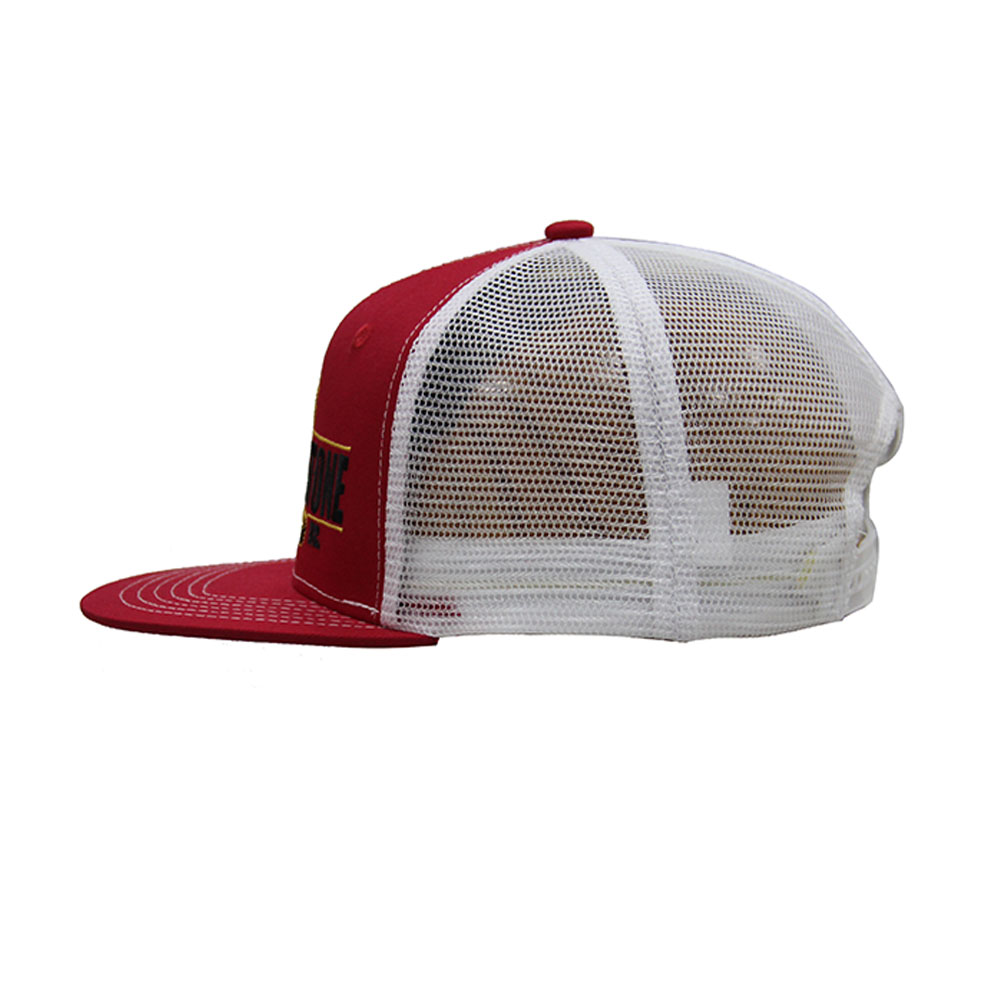 Customized Snake Embroidery Gorras Snap Back White Mesh Back Hat Cap Red Plain Snapback Hats