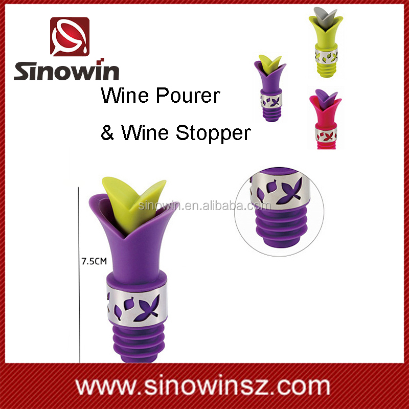 Silicone material and Eco-Friendly wine bottle pourer bar accessories