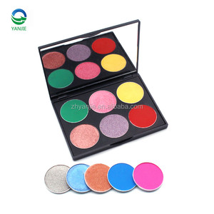 High quality 6 colors private label makeup pallette eyeshadow palette